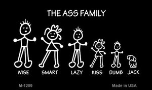 The Ass Family Wholesale Novelty Metal Magnet M-1209