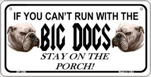 Big Dogs Wholesale Novelty Metal Bicycle Plate BP-1296