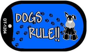 Dogs Rule Wholesale Novelty Metal Dog Tag Necklace DT-1204