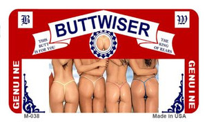 Buttwiser Wholesale Novelty Metal Magnet M-038