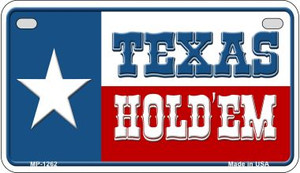 Texas Hold Em Wholesale Novelty Metal Motorcycle Plate MP-1262