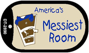Americas Messiest Room Wholesale Novelty Metal Dog Tag Necklace DT-2890