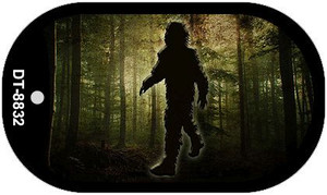 Bigfoot in the Woods Wholesale Novelty Metal Dog Tag Necklace DT-8832