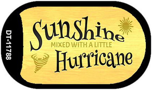 Sunshine with a Little Hurricane Wholesale Novelty Metal Dog Tag Necklace DT-11788