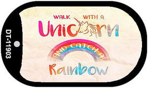 Walk with a Unicorn Wholesale Novelty Metal Dog Tag Necklace DT-11903