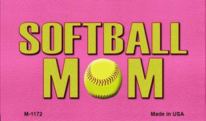 Softball Mom Wholesale Novelty Metal Magnet M-1172