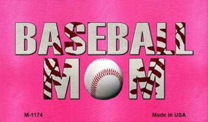 Baseball Mom Wholesale Novelty Metal Magnet M-1174
