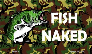 Fish Naked Wholesale Novelty Metal Magnet M-443