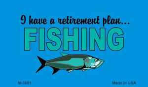 Retirement Plan Fishing Wholesale Novelty Metal Magnet M-3881