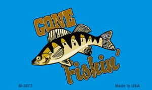 Gone Fishing Wholesale Novelty Metal Magnet M-3873
