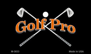 Golf Pro Wholesale Novelty Metal Magnet M-3833
