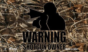 Warning Shotgun Owner Wholesale Novelty Metal Magnet M-5264