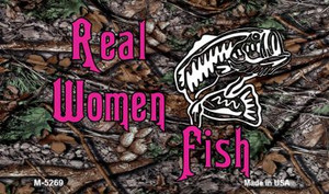Real Women Fish Wholesale Novelty Metal Magnet M-5269