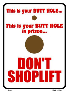 Don't Shoplift Wholesale Metal Novelty Parking Sign P-691