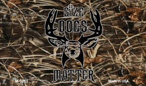 Size Does Matter Wholesale Novelty Metal Magnet M-5261
