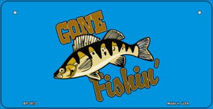 Gone Fishing Wholesale Novelty Metal Bicycle Plate BP-3873