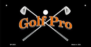 Golf Pro Wholesale Novelty Metal Bicycle Plate BP-3833