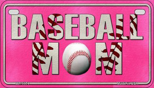 Baseball Mom Wholesale Novelty Metal Motorcycle Plate MP-1174