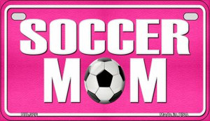 Soccer Mom Wholesale Novelty Metal Motorcycle Plate MP-326
