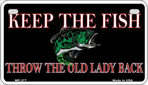 Keep the Fish Wholesale Novelty Metal Motorcycle Plate MP-377