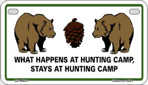 Hunting Camp Wholesale Novelty Metal Motorcycle Plate MP-2391
