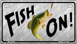 Fish On Wholesale Novelty Metal Motorcycle Plate MP-8336