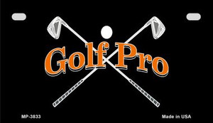 Golf Pro Wholesale Novelty Metal Motorcycle Plate MP-3833