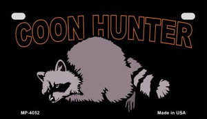 Coon Hunter Wholesale Novelty Metal Motorcycle Plate MP-4052