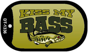 Kiss My Bass Wholesale Novelty Metal Dog Tag Necklace DT-1336