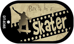 Born to be a Skater Wholesale Novelty Metal Dog Tag Necklace DT-8365