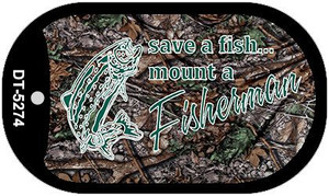 Save A Fish Wholesale Novelty Metal Dog Tag Necklace DT-5274
