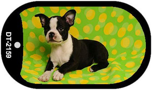 Boston Terrier Wholesale Novelty Metal Dog Tag Necklace DT-2159