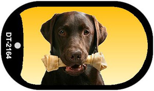 Chocolate Lab Wholesale Novelty Metal Dog Tag Necklace DT-2164