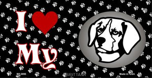 I Love My Brittany Wholesale Novelty Metal Bicycle Plate BP-3895