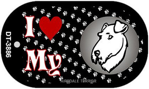 I Love My Airdale Terrier Wholesale Novelty Metal Dog Tag Necklace DT-3886