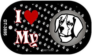 I Love My Brittany Wholesale Novelty Metal Dog Tag Necklace DT-3895
