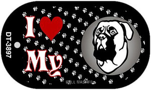 I Love My Bull Mastiff Wholesale Novelty Metal Dog Tag Necklace DT-3897