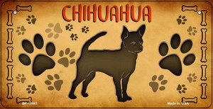 Chihuahua Wholesale Novelty Metal Bicycle Plate BP-10441