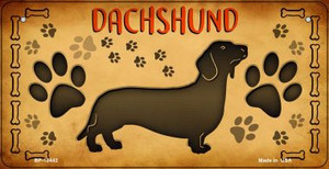 Dachshund Wholesale Novelty Metal Bicycle Plate BP-10442