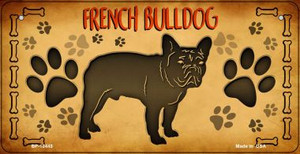 French Bulldog Wholesale Novelty Metal Bicycle Plate BP-10445