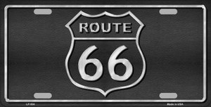 Route 66 Shield Black Wholesale Metal Novelty License Plate