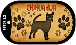 Chihuahua Wholesale Novelty Metal Dog Tag Necklace DT-10441