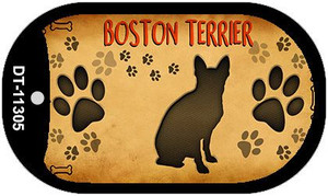 Boston Terrier Wholesale Novelty Metal Dog Tag Necklace DT-11305