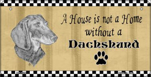 Dachshund Pencil Sketch Wholesale Novelty Metal Bicycle Plate BP-1709