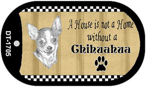 Chihuahua Pencil Sketch Wholesale Novelty Metal Dog Tag Necklace DT-1705