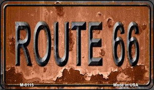 Route 66 Rusty Wholesale Novelty Metal Magnet M-8115