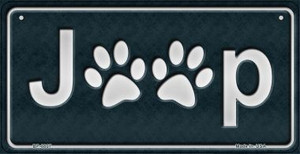 J**P Dog Paws Wholesale Novelty Metal Bicycle Plate BP-8807