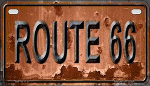 Route 66 Rusty Wholesale Novelty Metal Motorcycle Plate MP-8115