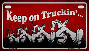 Keep on Truckin Wholesale Novelty Metal Motorcycle Plate MP-8764