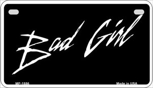 Bad Girl Wholesale Novelty Metal Motorcycle Plate MP-1886